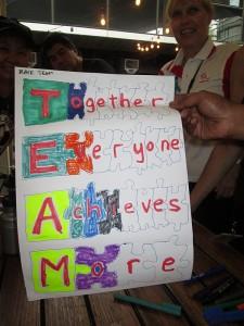 Teamwork signs